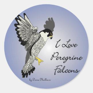 Peregrine Falcon Round Stickers