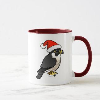 Peregrine Falcon Santa Mug
