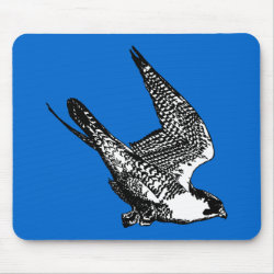 Mousepad with Peregrine Falcon Sketch design