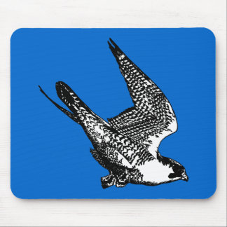 Peregrine Falcon Sketch Mouse Pad