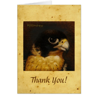 Peregrine Falcon Thank You Note Card