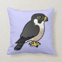 Cute Peregrine Falcon Cotton Throw Pillow