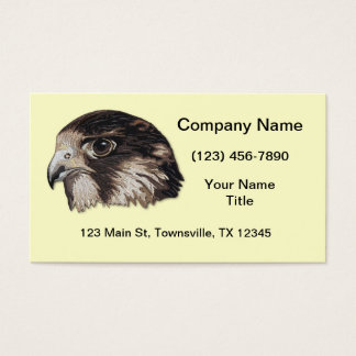 Peregrine Faux Embroidery Business Card