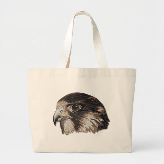 Peregrine Faux Embroidery Large Tote Bag