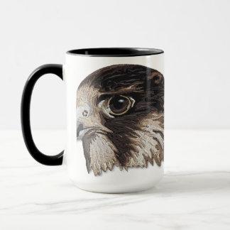 Peregrine Faux Embroidery Mug