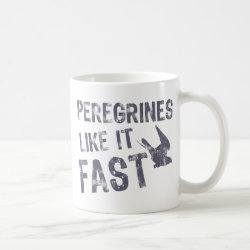 Classic White Mug with Peregrines Like It Fast design