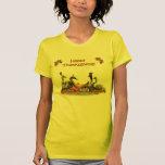 Peregrino de la acción de gracias y patos indios camiseta
