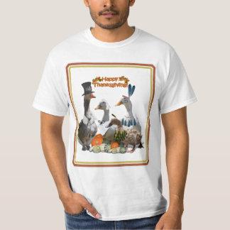 Peregrino de la acción de gracias y patos indios playera