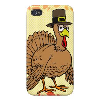 Peregrino de Turquía del dibujo animado de la acci iPhone 4 Cárcasas