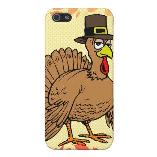 Peregrino de Turquía del dibujo animado de la acci iPhone 5 Protectores