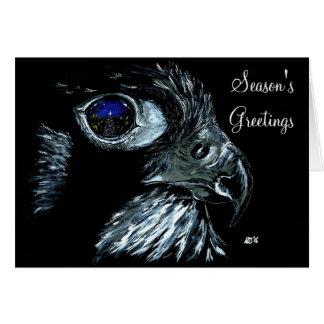Peregrino del invierno tradicional con el texto tarjeta de felicitación