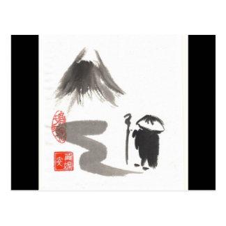 Peregrino del zen tarjetas postales