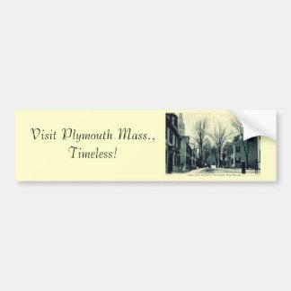 Peregrino Plymouth mA c1908 del St de Leiden Etiqueta De Parachoque