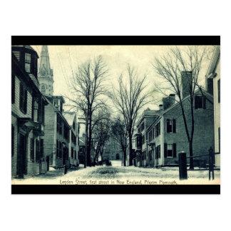 Peregrino Plymouth mA c1908 del St de Leiden Tarjeta Postal