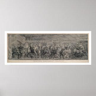 Peregrinos de Cantorbery de Chaucer (1219) Poster