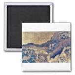Peregrinos de la escalada por Katsushika, Hokusai Imanes