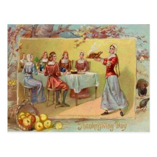 Peregrinos que celebran acción de gracias