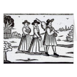 Peregrinos que salen para el nuevo mundo tarjeta de felicitación