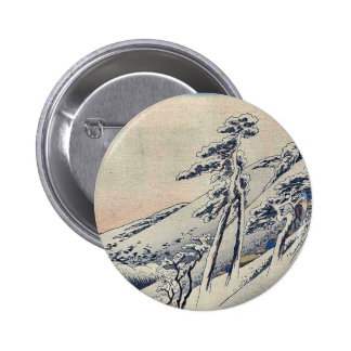 Peregrinos que suben la colina nevosa por Andō, Hi Pins