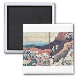Peregrinos que suben por Katsushika, Hokusai Ukiyo Imanes