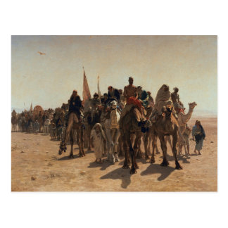 Peregrinos que van a La Meca, 1861 Postales