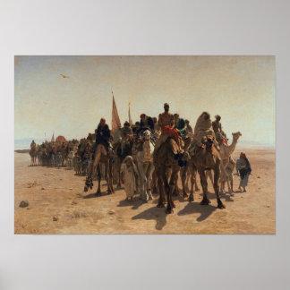 Peregrinos que van a La Meca, 1861 Póster