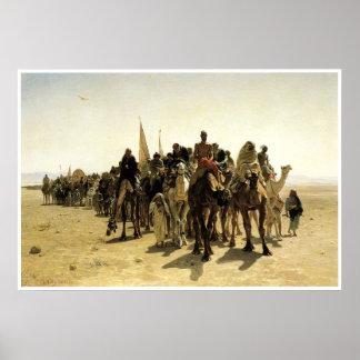 Peregrinos que van a La Meca Póster