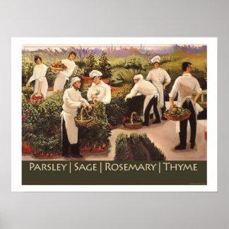 Perejil, sabio, Rosemary, y tomillo Impresiones