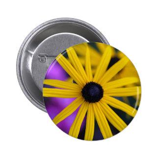 Perennial coneflower (Rudbeckia fulgida) Pinback Button