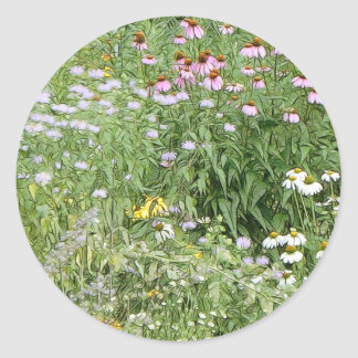Perennial Garden Round Sticker