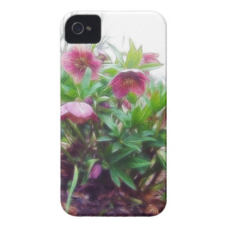 Perennial Hellebore Plants In The Garden iPhone 4 Case-Mate Case