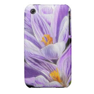 Perennial Purple Striped Crocuses iPhone 3 Case