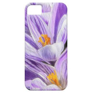 Perennial Purple Striped Crocuses iPhone SE/5/5s Case