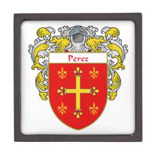 Perez Coat of Arms/Family Crest Jewelry Box