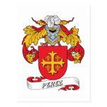 Perez Family Crest Postcard