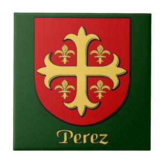 Perez Family Shield Decorative Tile