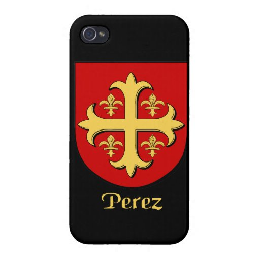 Perez Family Shield iPhone 4 Cover