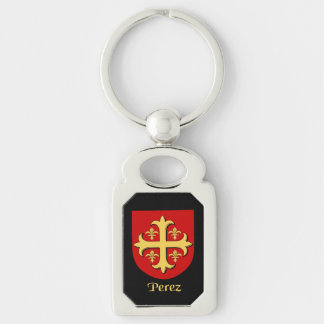 Perez Historical Shield Keychain