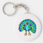 Perez Peacock Keychain