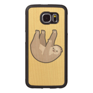 Pereza de Kawaii Funda De Madera Para Samsung Galaxy S6