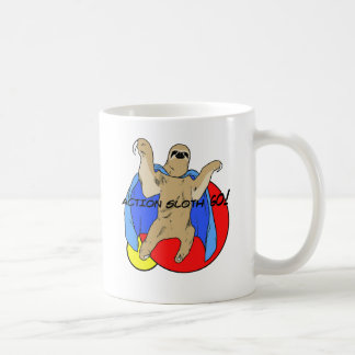 Pereza de la acción coloreada taza de café