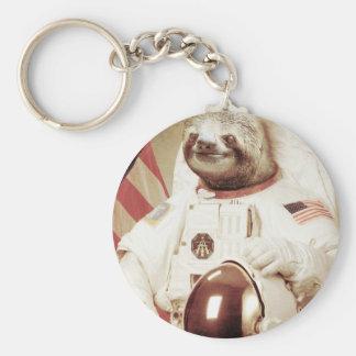 Pereza del astronauta llavero redondo tipo pin