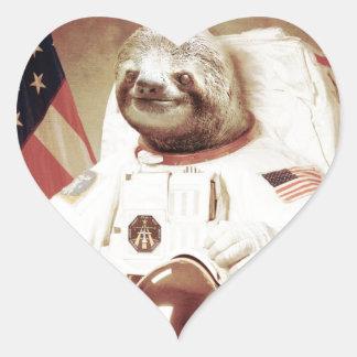 Pereza del astronauta pegatinas corazon