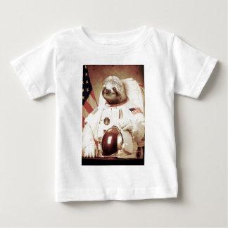 Pereza del astronauta playera de bebé