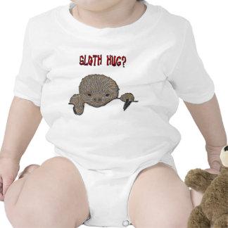 Pereza del bebé del abrazo de la pereza camisetas