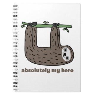 Pereza el héroe libro de apuntes