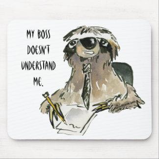 Pereza en el dibujo animado Mousepad del trabajo
