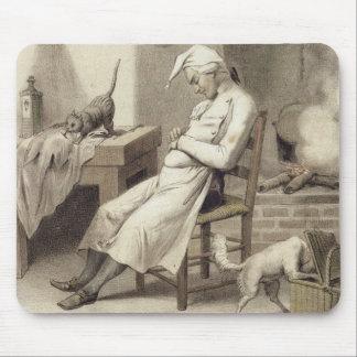 Pereza en la cocina, de una serie de depi de las i mouse pad