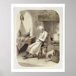 Pereza en la cocina, de una serie de depi de las i póster
