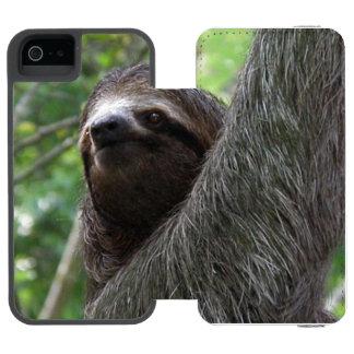 Pereza tocada con la punta del pie dos funda cartera para iPhone 5 watson